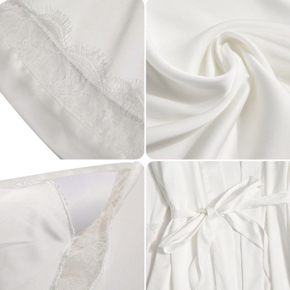Sexy Women Silk Satin Night Robe Set Sleepdress+Wedding Bride Bridesmaid Robes