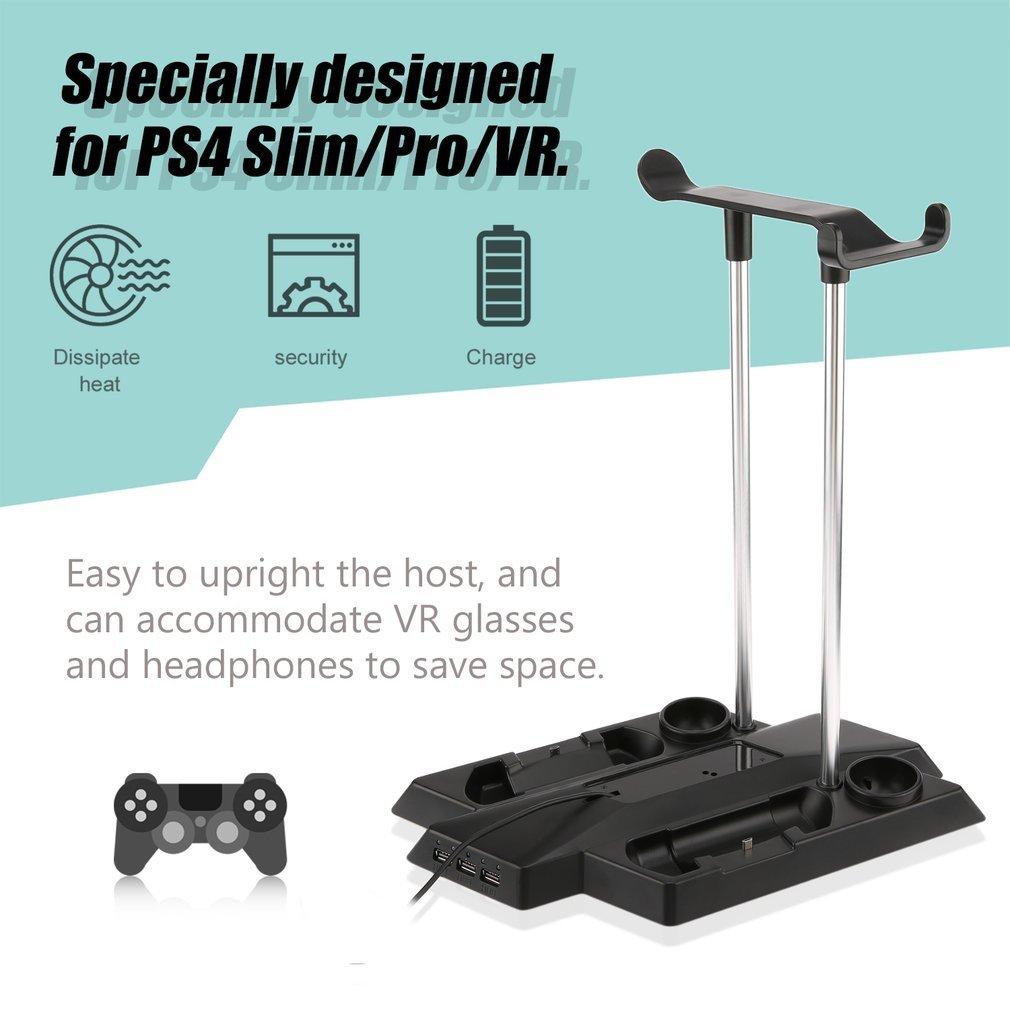Multifunctional Charging Bracket Base for PS4 Pro/Slim+VR Host and Handle Kit