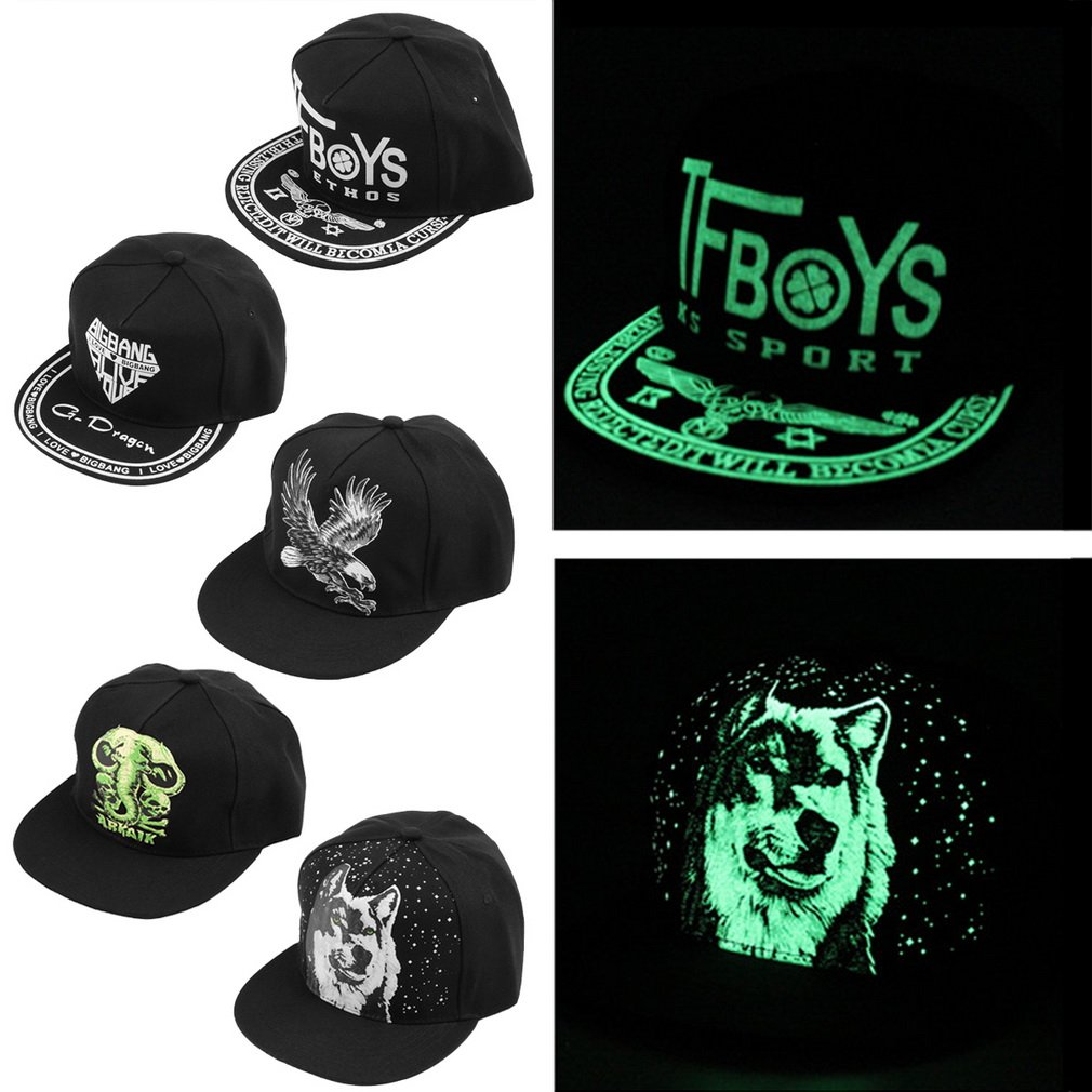 Neutral Luminous Fluorescent Hat Hip Hop Style Flat-brimmed Baseball Cap