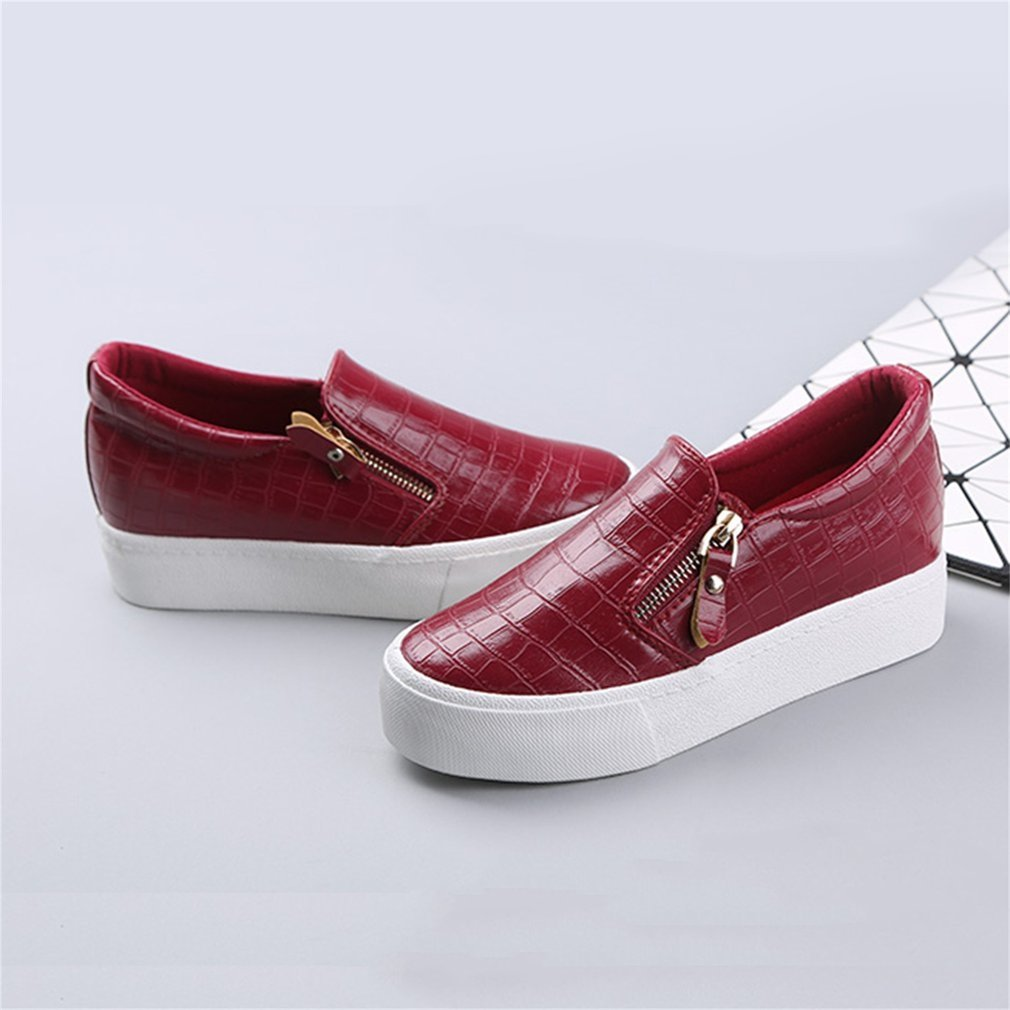 Renben 8336 Women Loafer Shoes Breathable Leisure PU Leather Anti Slip Shoes