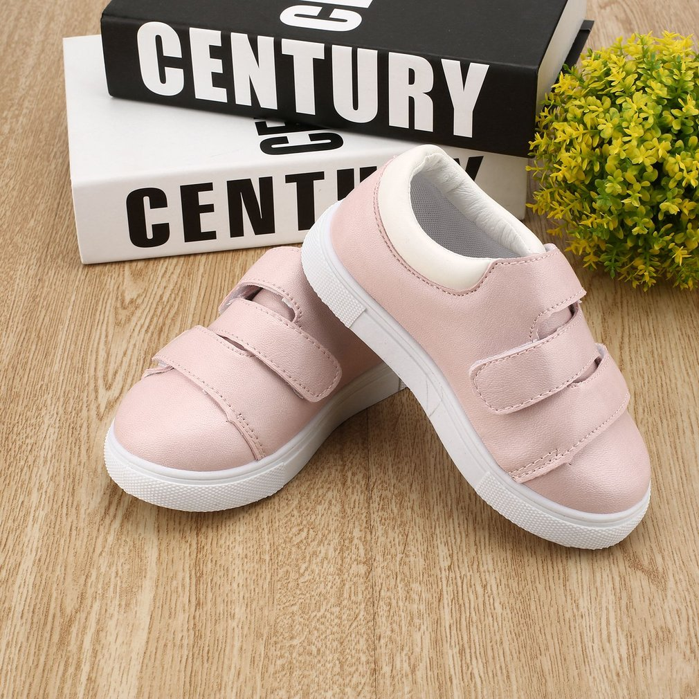 Children Anti-slip Gym Shoes Casual Low-cut Sneaker with Nylon Tape Closure