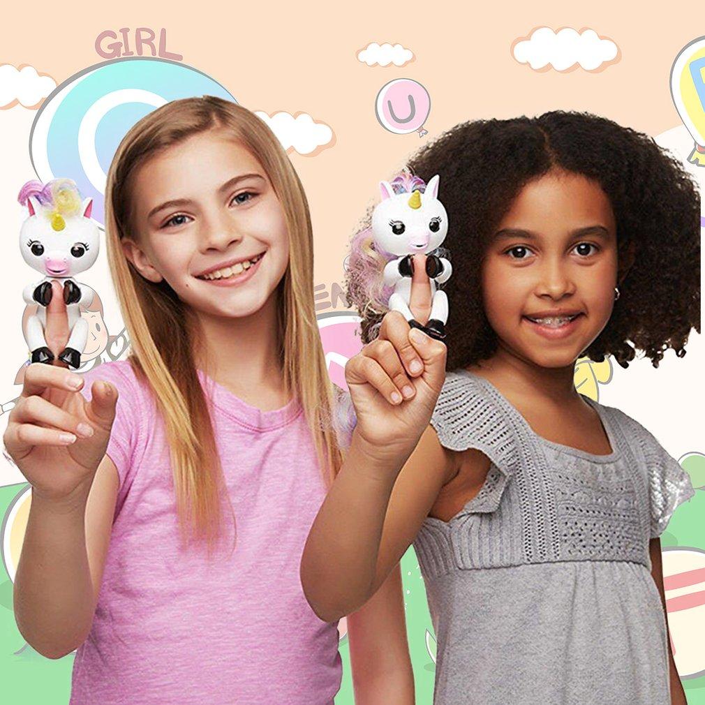 Kids Robert Fingertips Electronics Doll Hanger Unicorns Shape Educational Toy