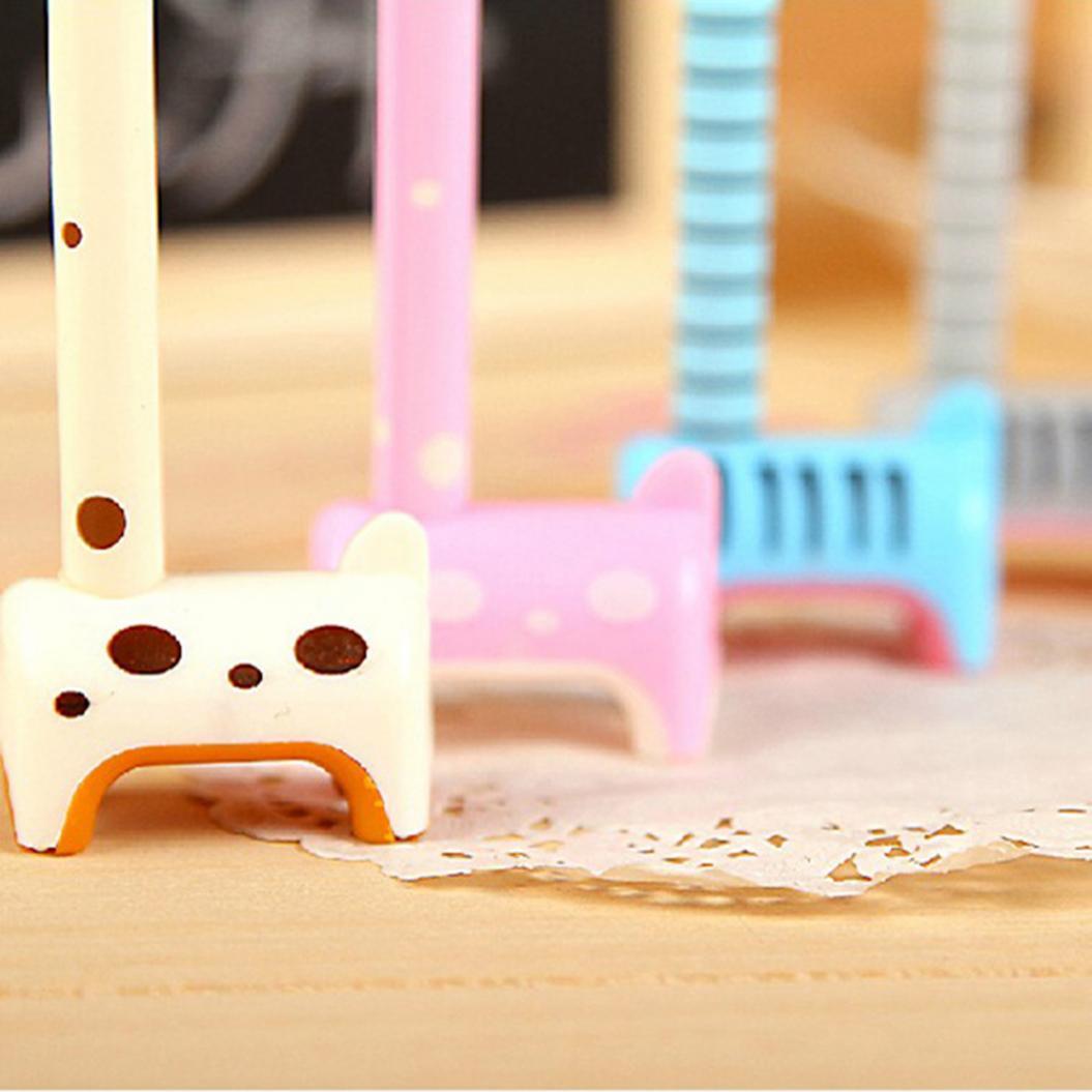 0.5mm Cute Giraffe Shape Upstanding Ink Filled Gel Writing Ballpoint Pen Marker