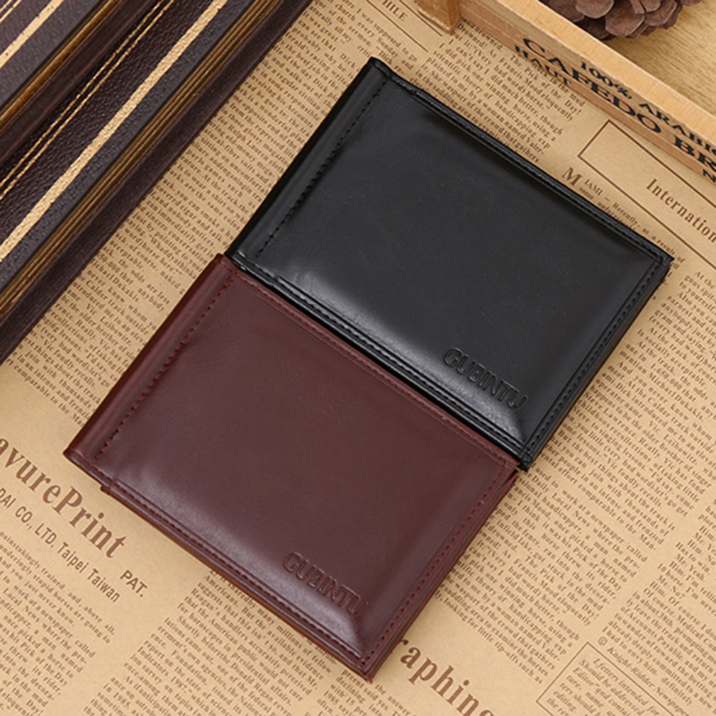 New Soft GUBINTU Man Purse Men Wallet PU Leather For Male Opening Style