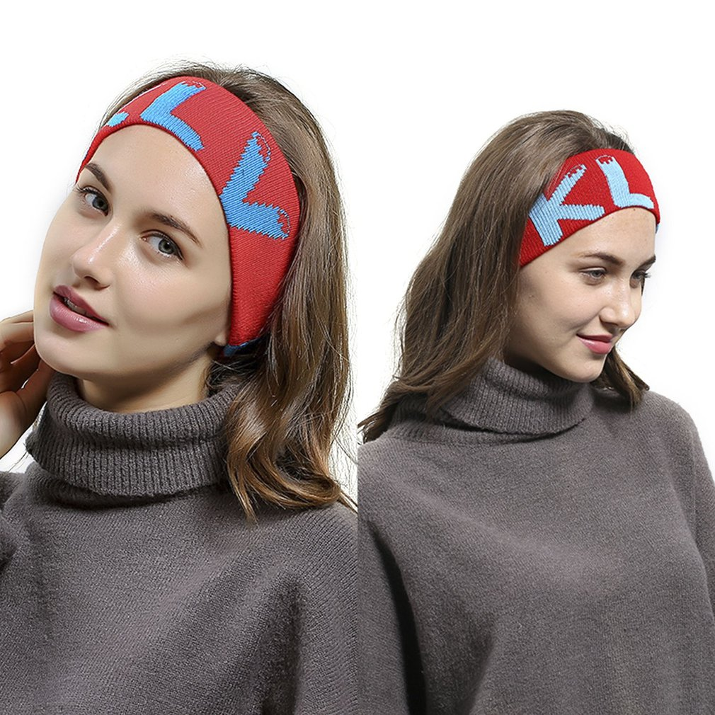 Elastic Knitted Head Band Outdoor Sports Headband Stylish Men Women Bandeaux