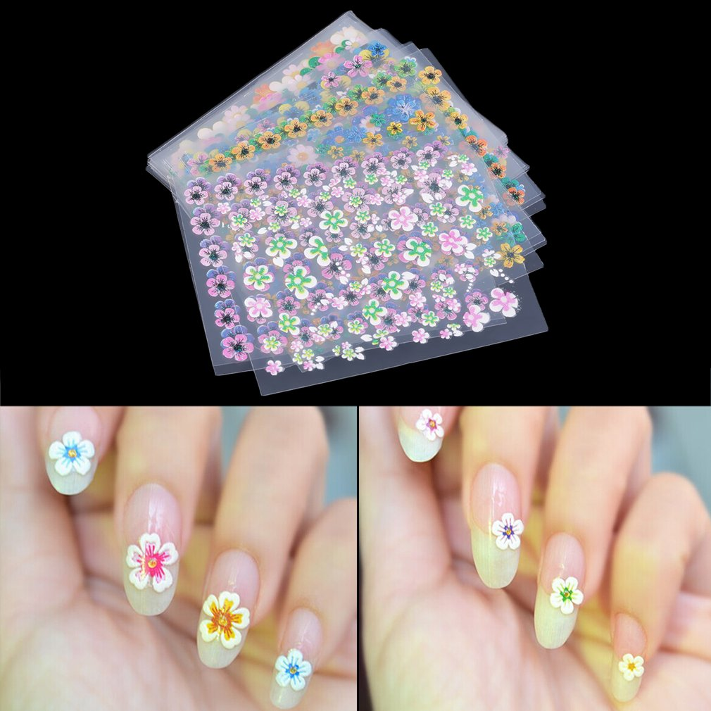 30 Sheet Flower Sticker Decal Nail Art Decoration Fashion Colorful Stickers