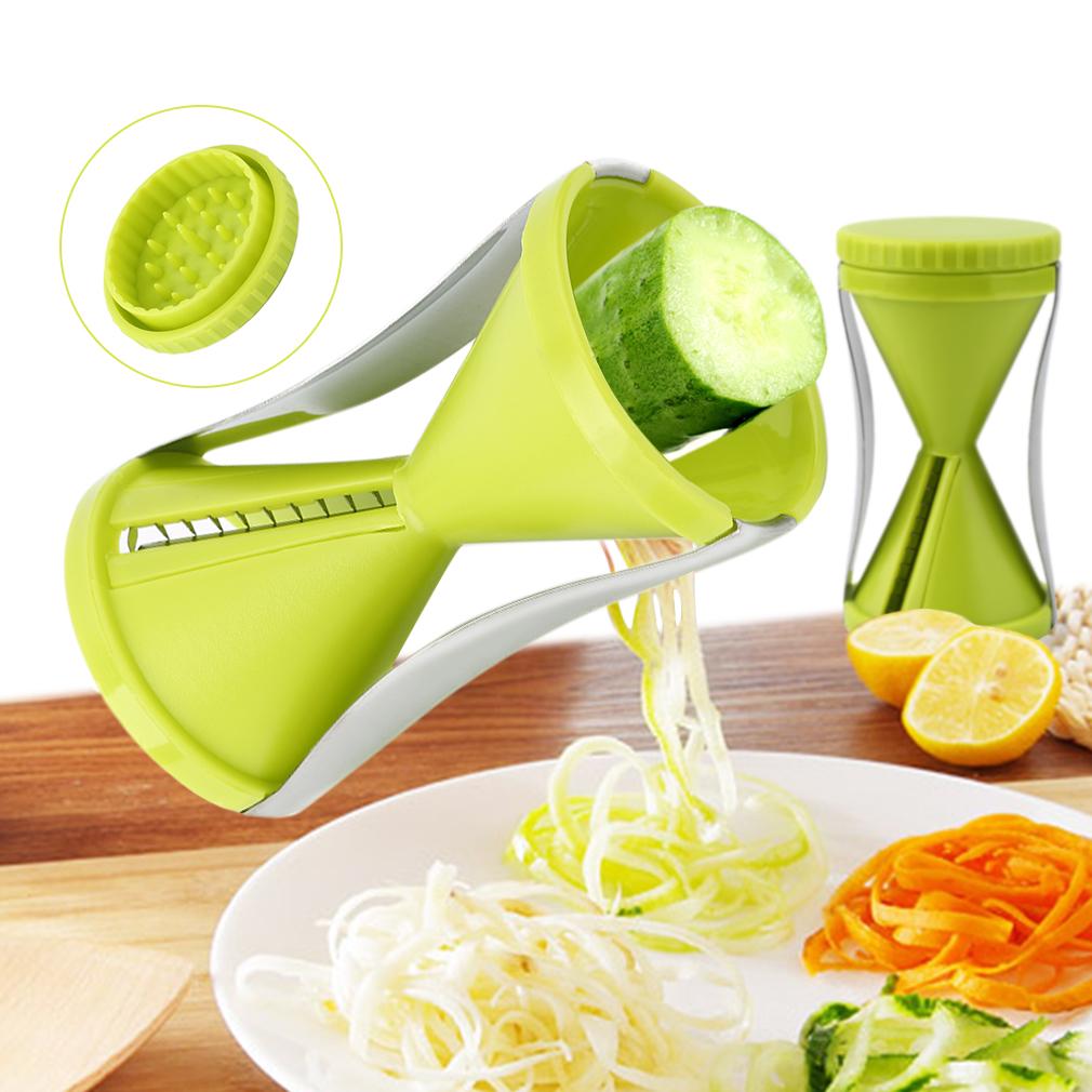 Creative Multifunctional Cutter Spiral Hourglass Funnel Vegetable Slicer