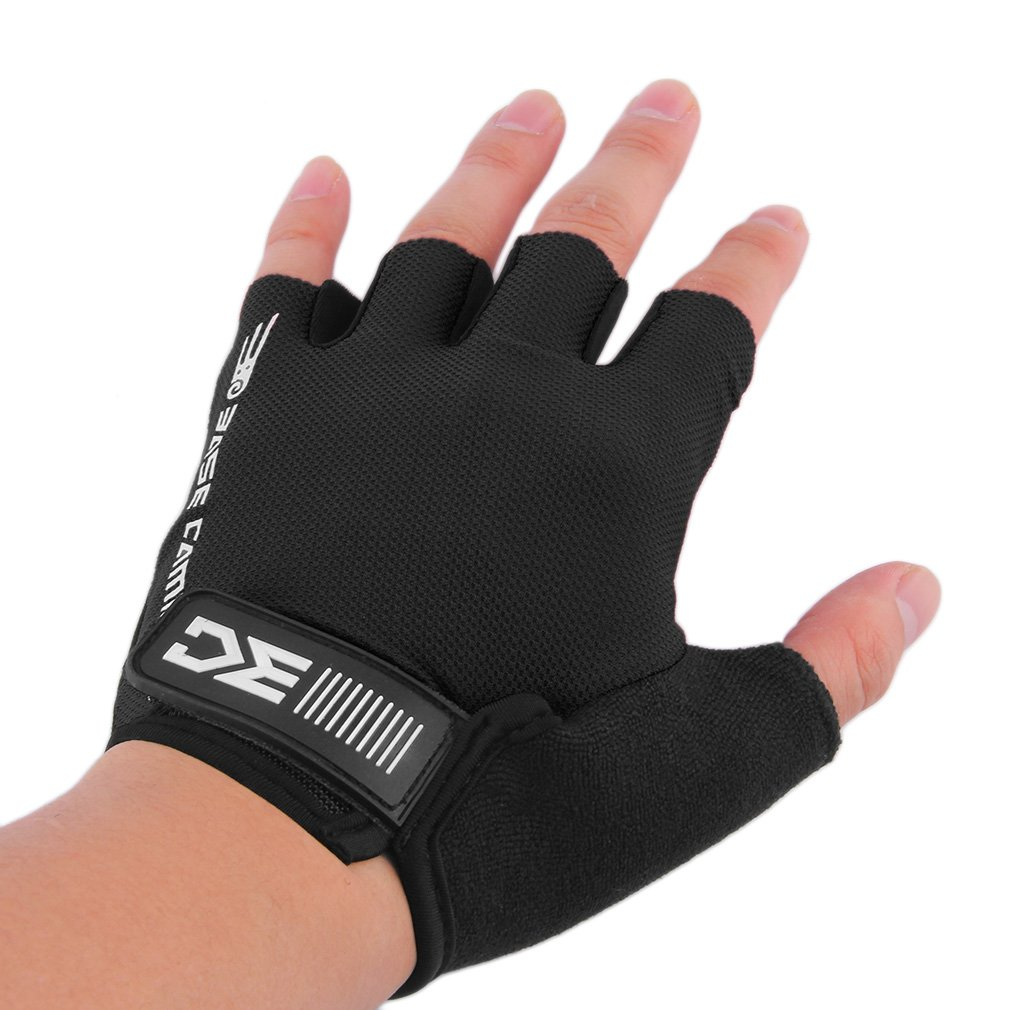 BaseCamp Outdoor Bike Bicycle Breathable Sport Cycling Half FInger Gloves