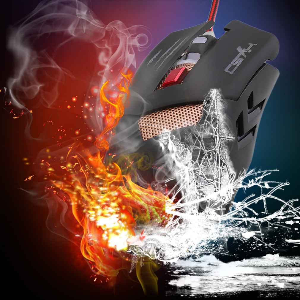 H400 Professional Wired Gaming Mouse 6 Buttons Computer Mouse Optical Mouse