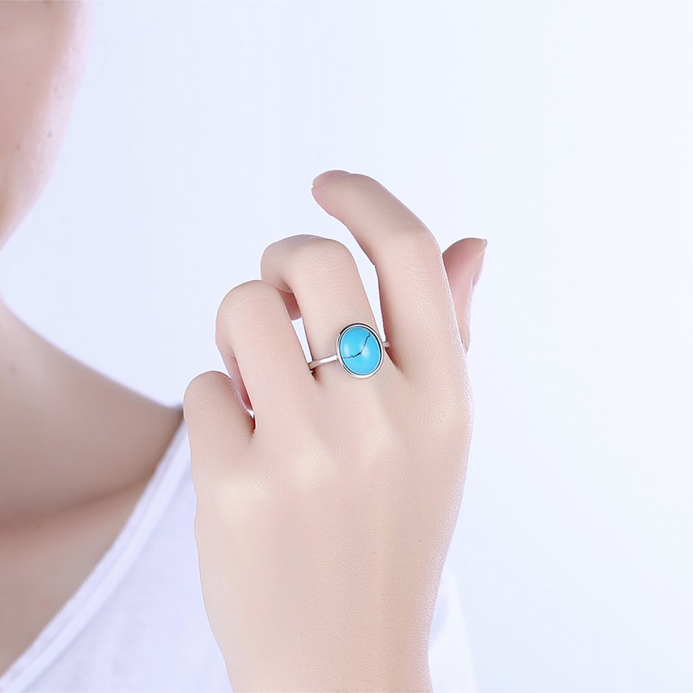 Women Rings Jewelry Geometric Stone Vintage Ring for Lover Engagement Gift