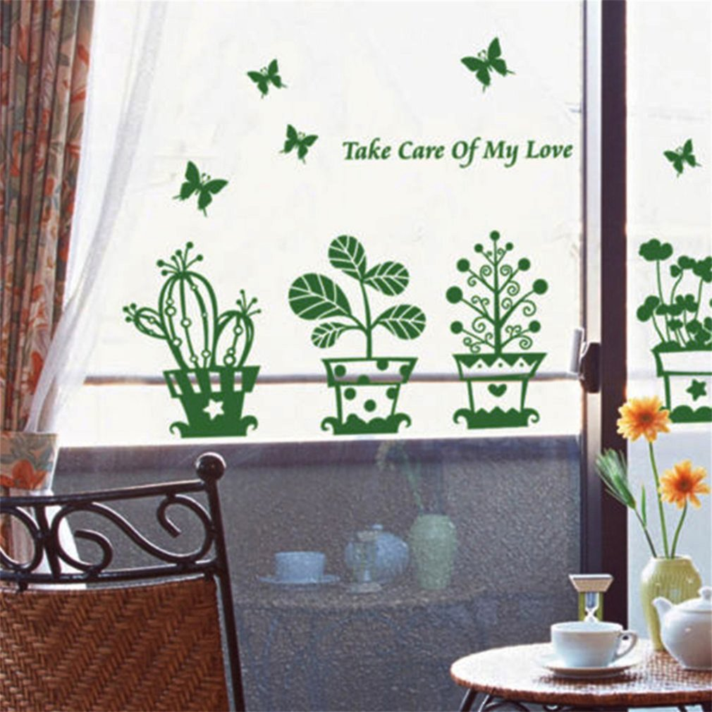Take Care of My Love Potting Wall Sticker Home Art Mural Room Windows Decor