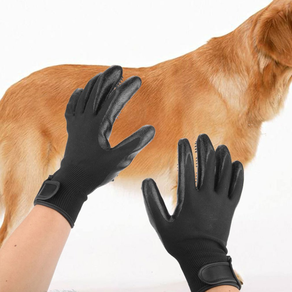 1 Pair Summer Pets Dogs Cats Grooming Bathing Brush Gloves Durable Rubber Easy Clean Hair Brush Gloves For Cats Dogs Cleaning