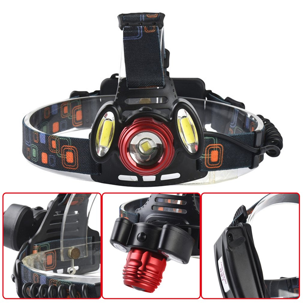 15000LM XML T6+cob Zoomable Headlamp Head Light Rechargeable Torch Lamp 2305