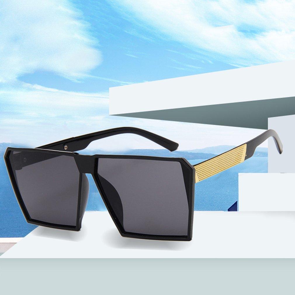Fashion Large Square Frame Men Women Summer Sunglasses Anti-UV Mercury Sun Glasses Vintage Shades For Driving Shopping Working