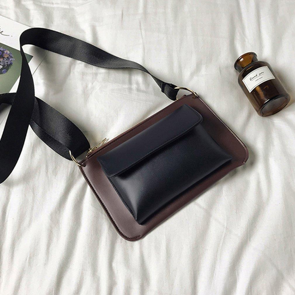 Autumn Winter Vintage Soft PU Leather Women Single Shoulder Bag Adjustable Shoulder Strap Lady Messenger Bag Crossbody Bag