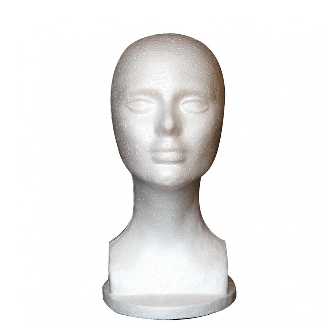 Female Foam Mannequin Manikin Head Model Shop Wig Hair Jewelry Display Stand