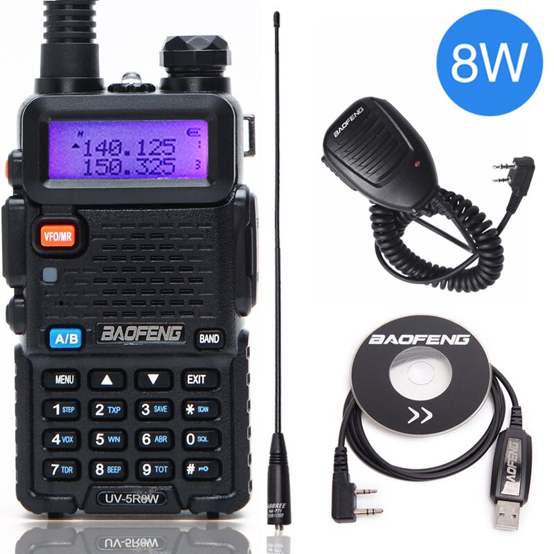 Baofeng UV-5R 8W High Powerful Two Way Radio Walkie Talkie 8 Watts CB Ham Portable Radio 10km Long Range Pofung UV5R for Hunting