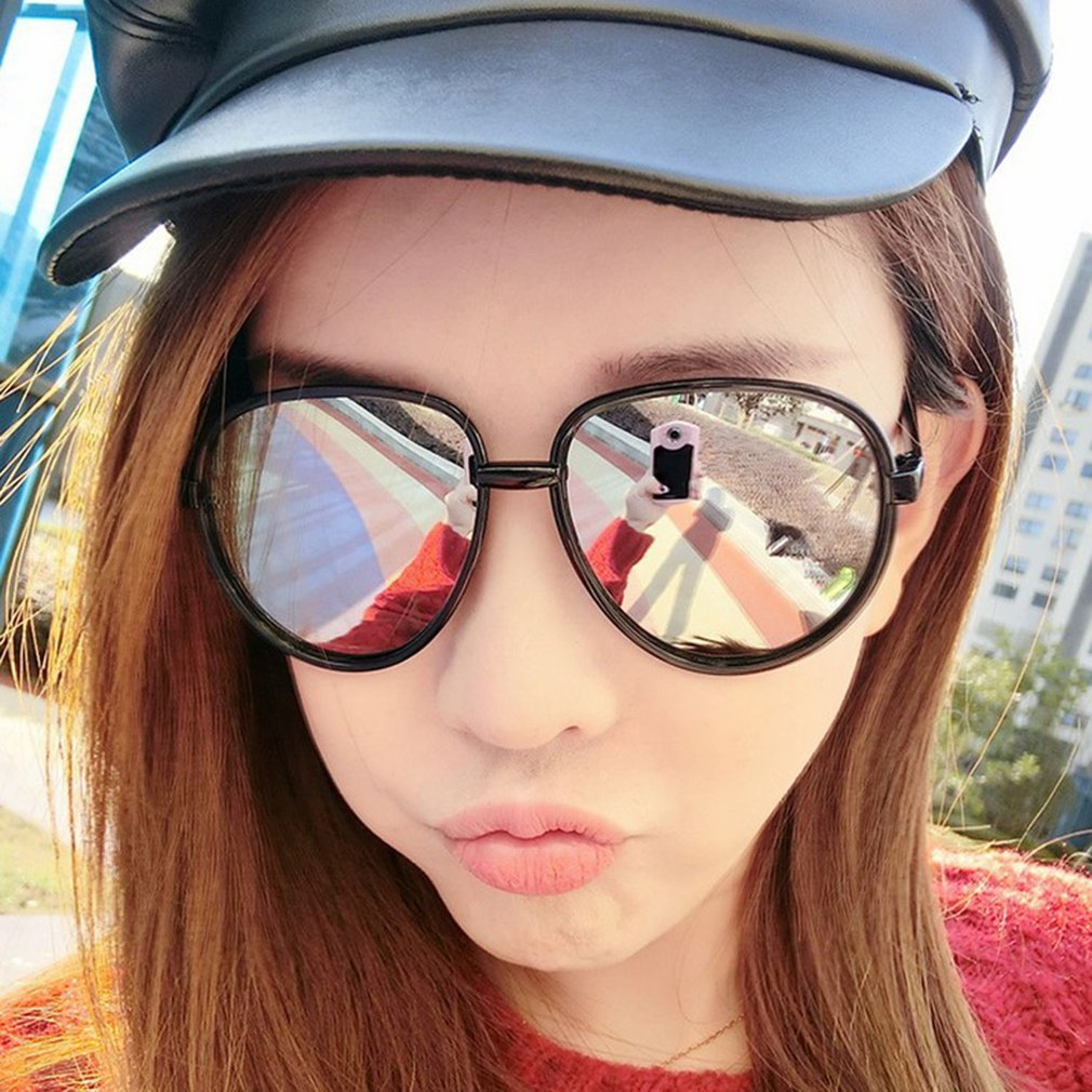 Fashion Large Black Frame Men Women Sunglasses Anti-UV Sun Glasses Goggles Vintage Shades For Driving Shopping Working Dating
