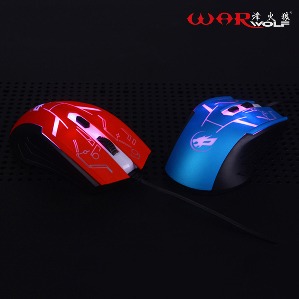 Wired Gaming Mouse 4 Buttons Professional PC Laptop Computer Mouse Gamer Mice