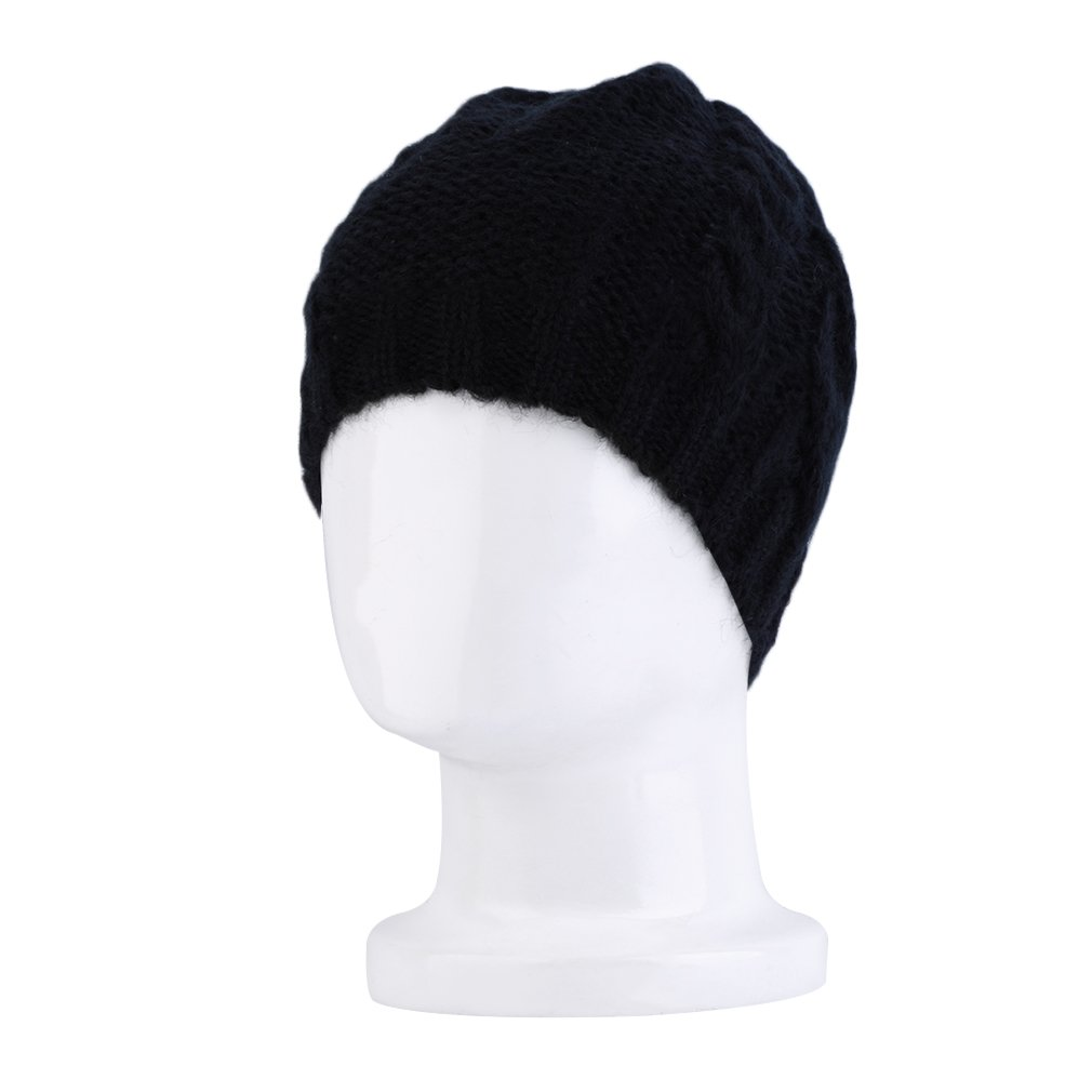 Womens Girl Winter Braided Crochet Wool Knit Outdoor Ski Beanie Cap Warm Hat
