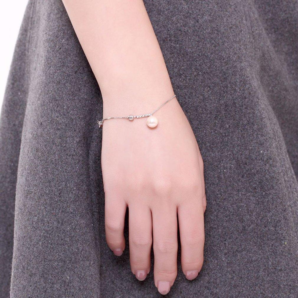 Charming Women Fashion Cute Simulated Pearl Bracelets Female Ladies Elegant Link Chain Bracelet Jewelry Best Gift