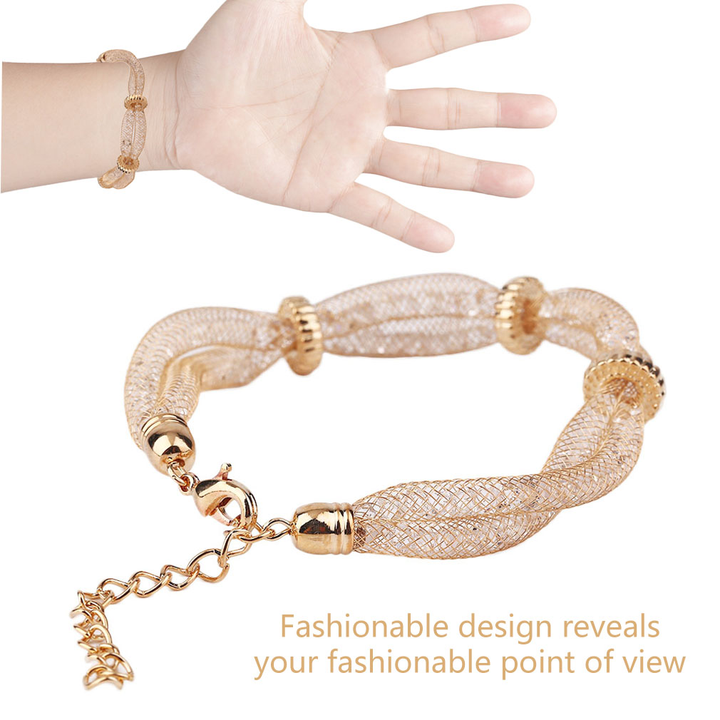 Charming Women Metal Mesh Style Wire Mesh Chain Bracelet Best Gift