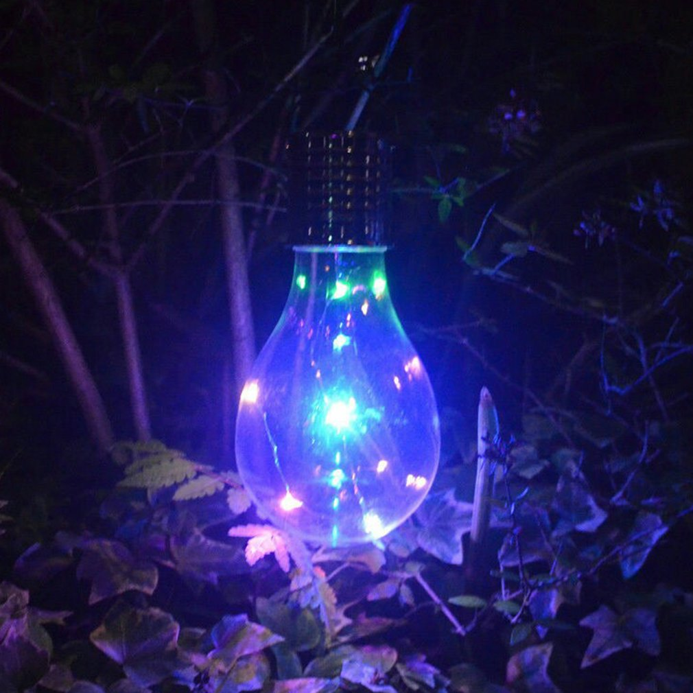 Solar Waterproof Rotatable Garden Balcony Hanging LED Light Copper Lamp Bulb