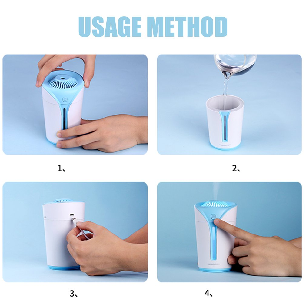 USB LED Night Light Air Humidifier Essential Oil Aroma Diffuser for Home