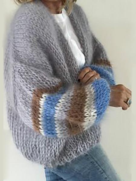 Casual Daily Autumn Winter Cardigan Women Sweater Jacket