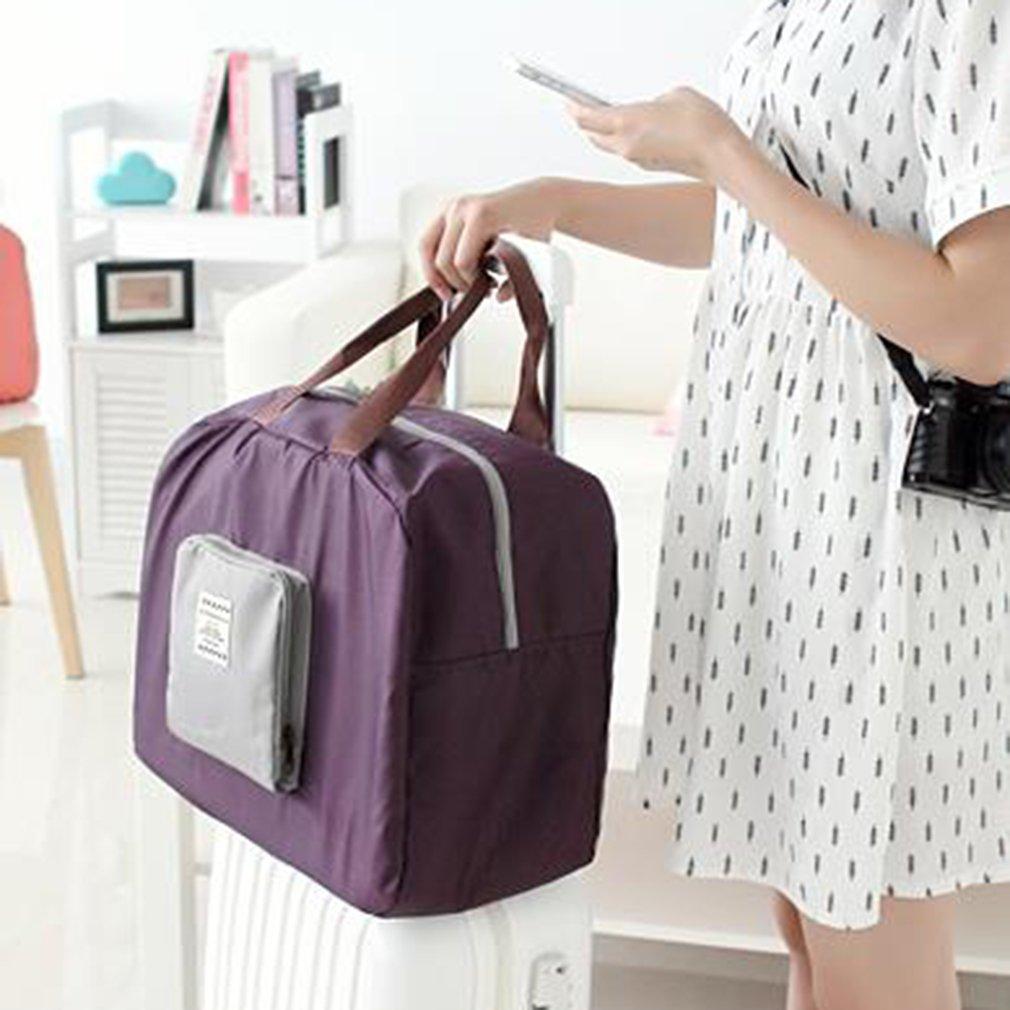 Folding Shoulder Handbag Shopper Reuse Tote Beach Shopping Travel Bag