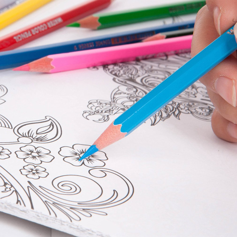 12 Colors Wooden Pencil School Children Painting Pen DIY Graffiti Pencil