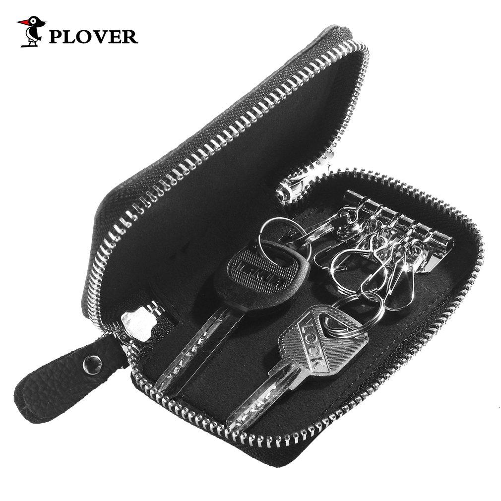 GD5175 Leather Key Holder Bag Zipper Keys Organizer Coin Bill Holder Wallet
