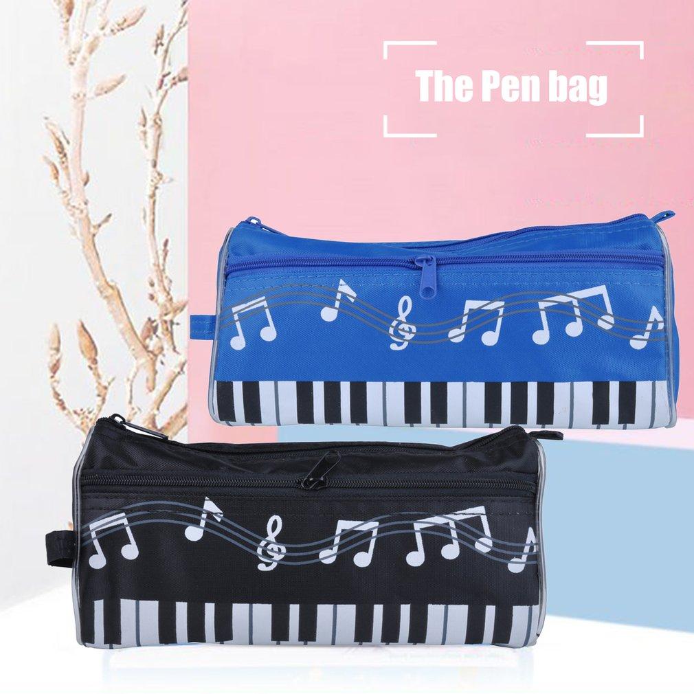 Big Capacity Pencil Case Creative Piano Pattern Pencil Bag School Bag Multi-Functional Felt Pouch Zipper Bag for Pens Pencils