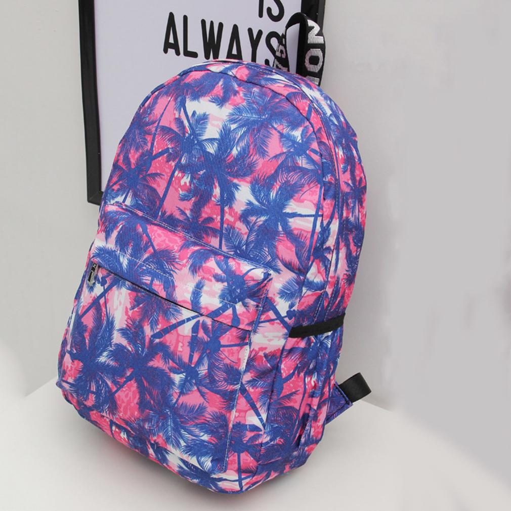 Women Canvas Printing Backpack Fashion Female Shoulder Bag Travel Rucksack