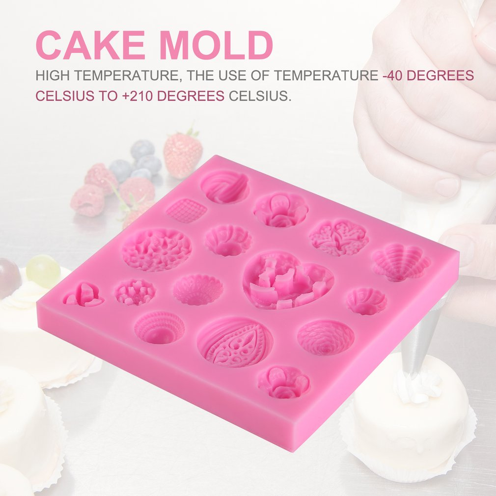 Buttons Flower Fondant Cake Mold DIY Chocolate Mould Sugar Craft Baking Tools