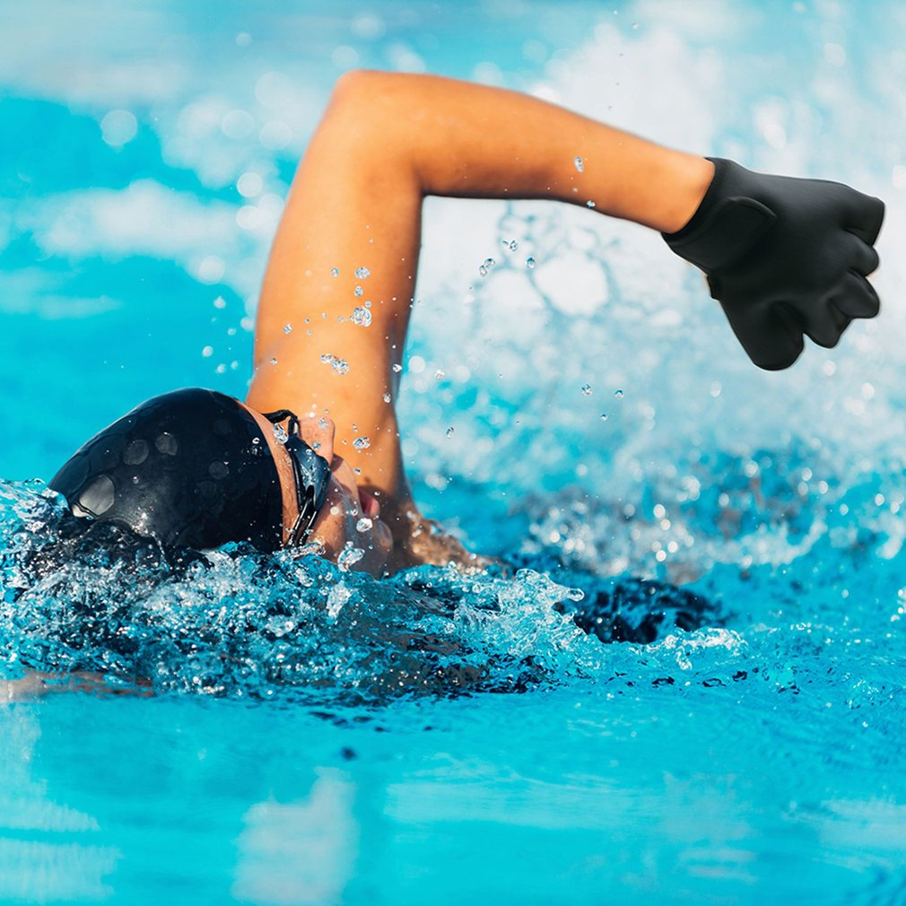2mm Swimming Gloves Training Duck Palm Gloves Adult Unisex Snorkeling Diving