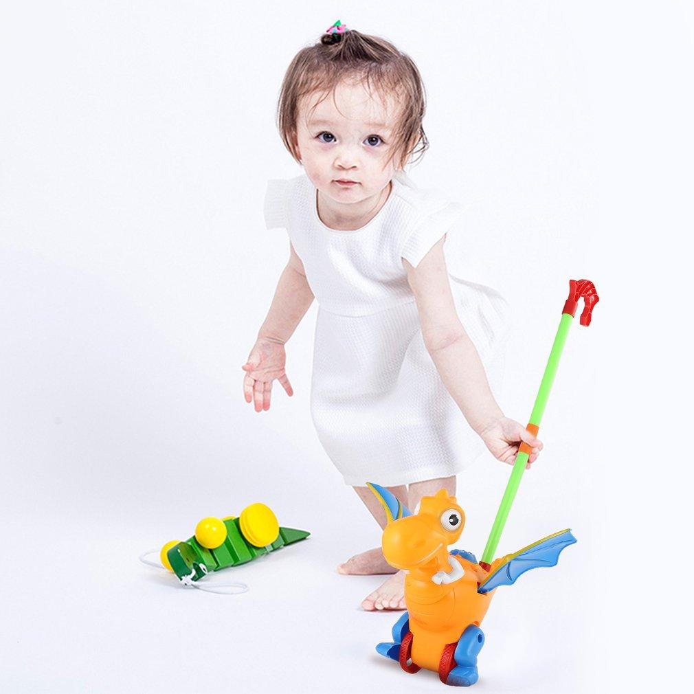 Push Animal Toys Dinosaur Shaped Cartoon Cart Toys Baby/Toddler/Child Walking