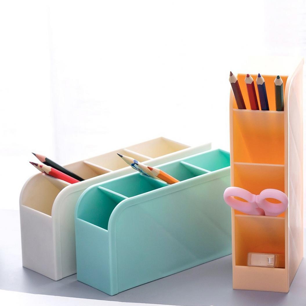 Desktop Makeup Brushes Pen Pencil Storage Box Cosmetics Organizer Holder Case