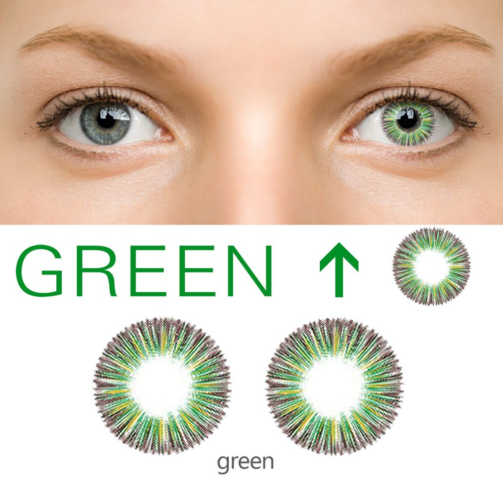 One Pair Dandelion Beautiful Pattern Coloured Circle Cosmetic Contact Lenses