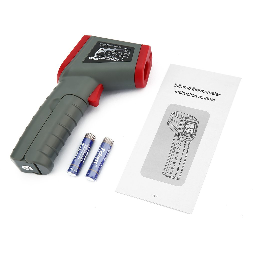 DT8500 Handheld LCD Infrared Thermometer °C/°F Auto Power Off & Data Hold