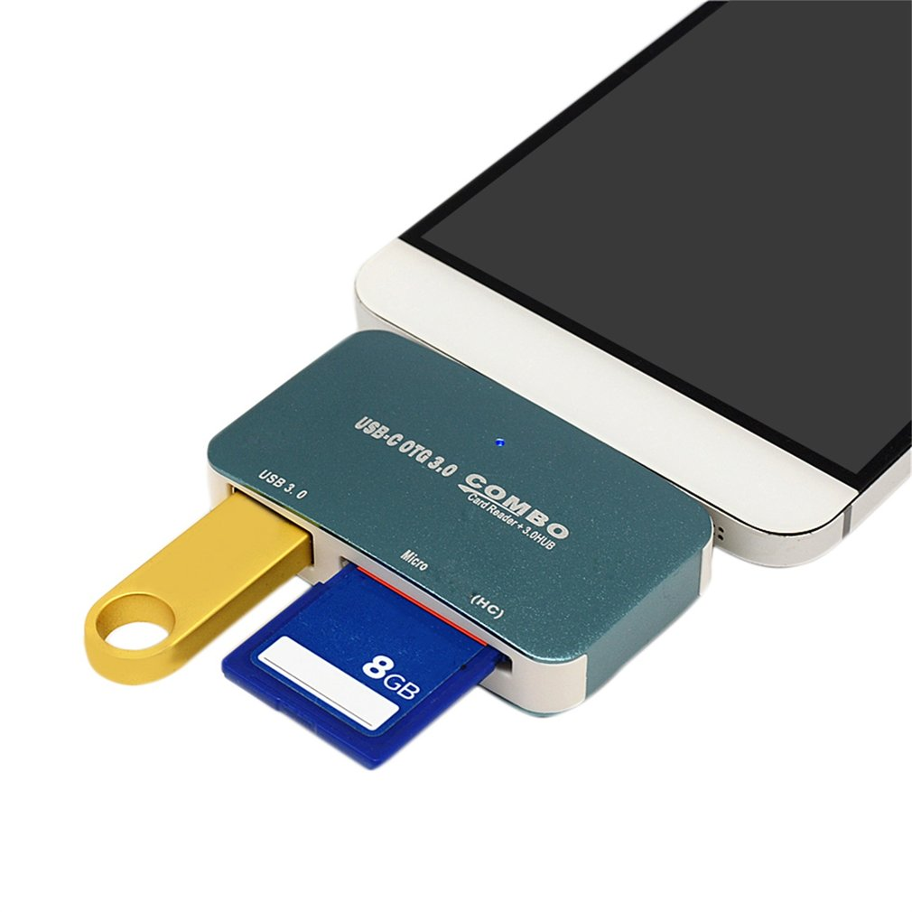 Type-C Interface USB3.1 HUB Security Digital Memory Card TF Card Reader