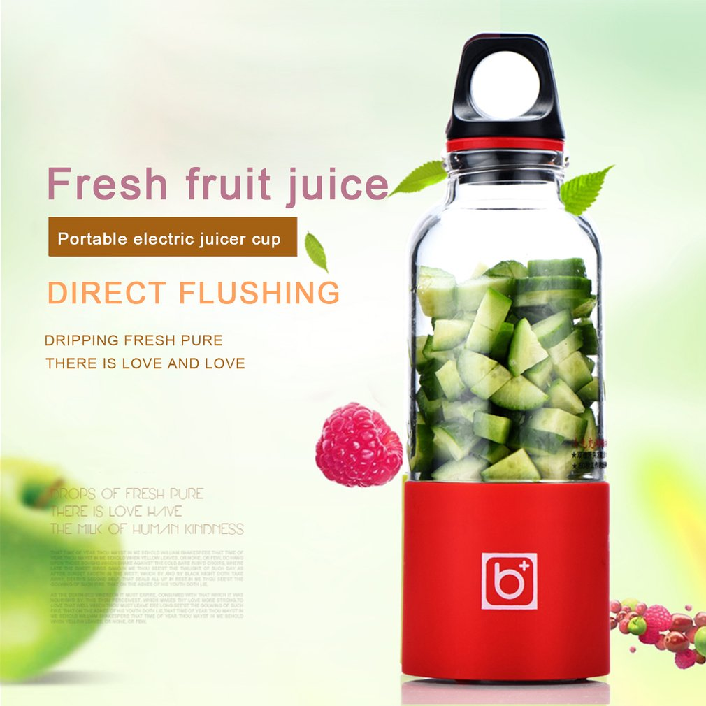 500ML Portable Electric Juicer Cup USB Rechargeable Automatic Vegetables Fruit Juice Maker Cup Juice Extractor Blender Mixer