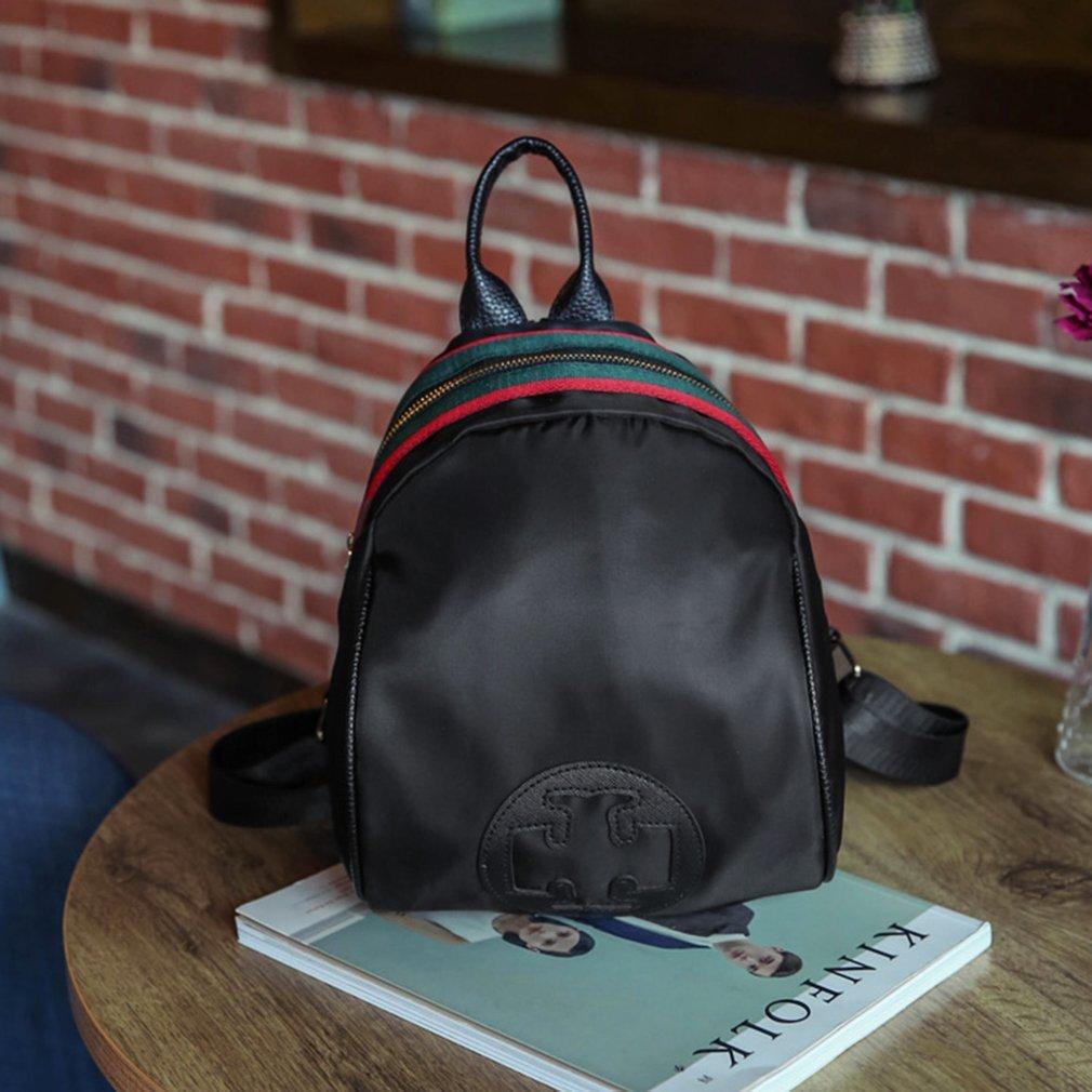 Multi-Purpose Small Size Women Female Backpacks Casual Solid Color Zipper Bag Teenage Girls School Bags Travel Bag