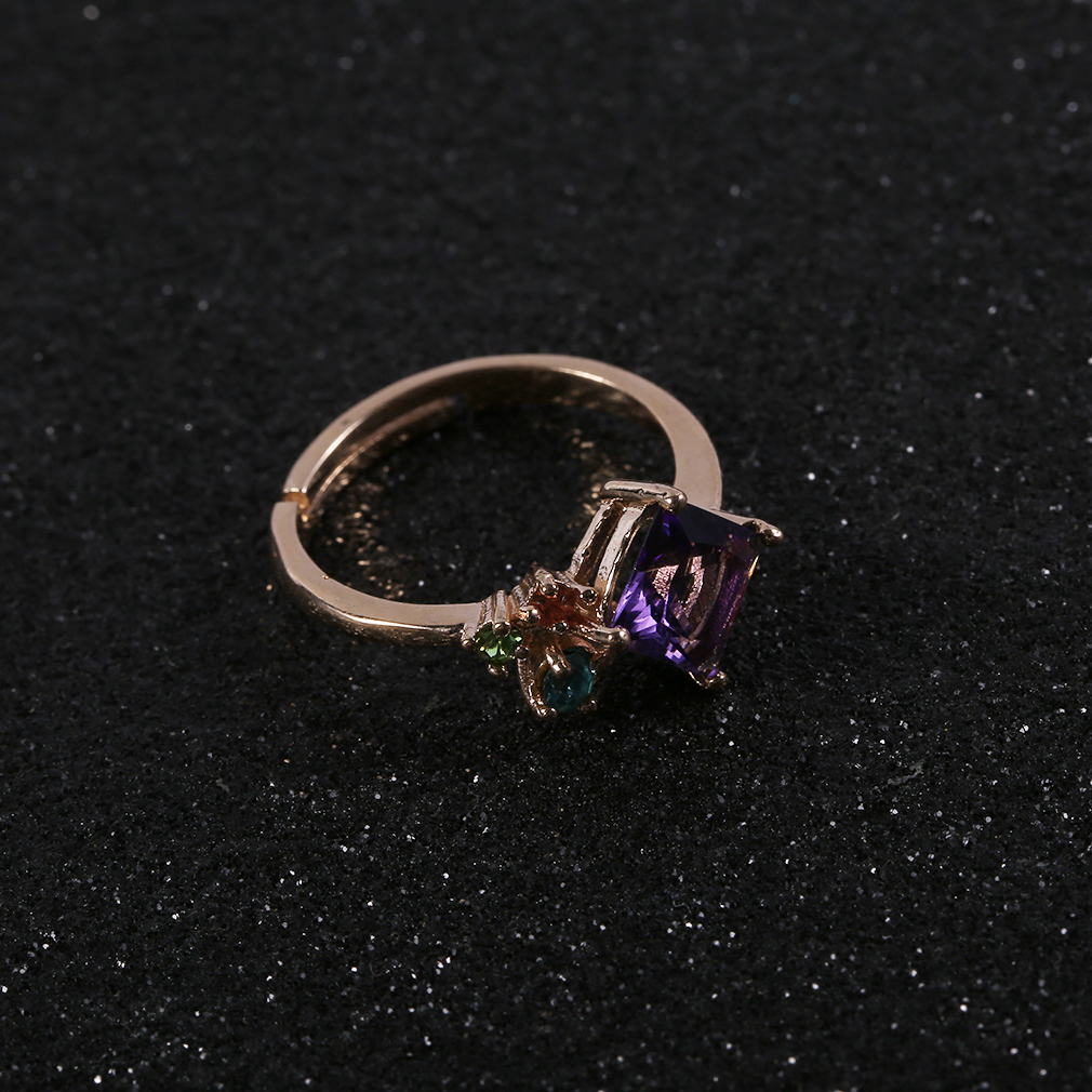 Fashionable Korean Style Women Ring Metal Copper Female Lady Ring Jewelry
