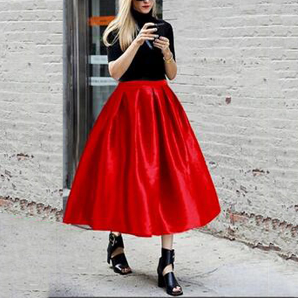 Fashion Vintage Womens Ball Party Gown Dress Casual High Waist Skirts