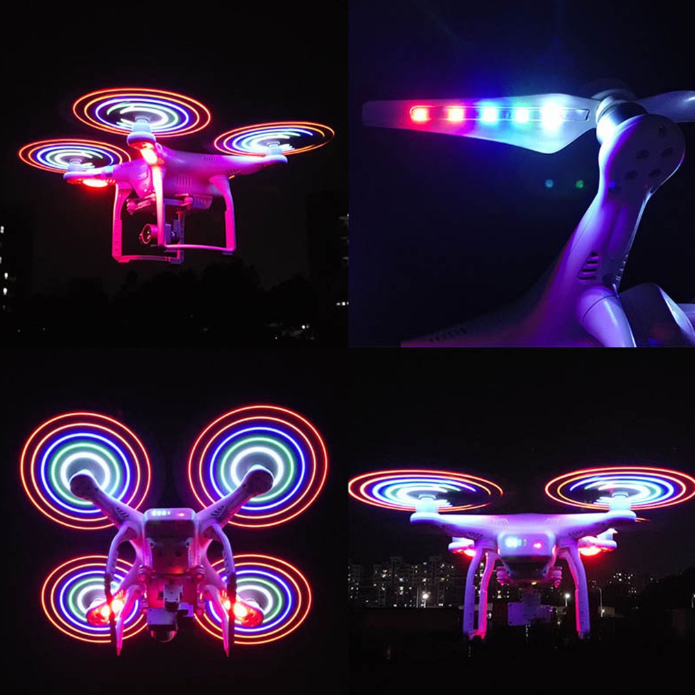 2 Pair LED Light 9450 Prop CW CCW Blade Propeller for DJI Phantom 3 Adv/Sta/SE