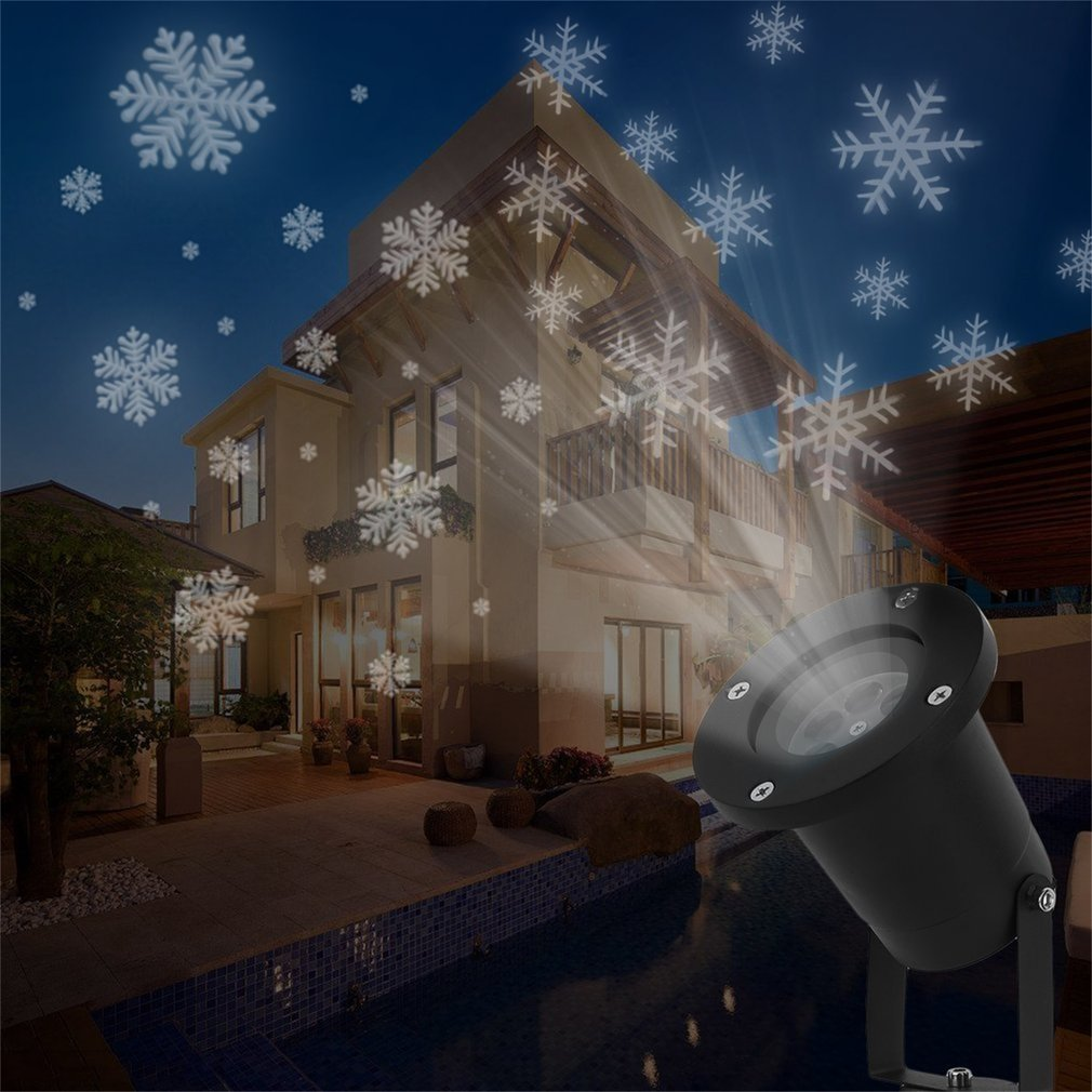 Snowflake Projector Lamp Outdoor Waterproof Holiday Decoration Spotlight Lamp