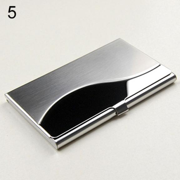 Women's Fashionable Stainless Steel Cards Holder