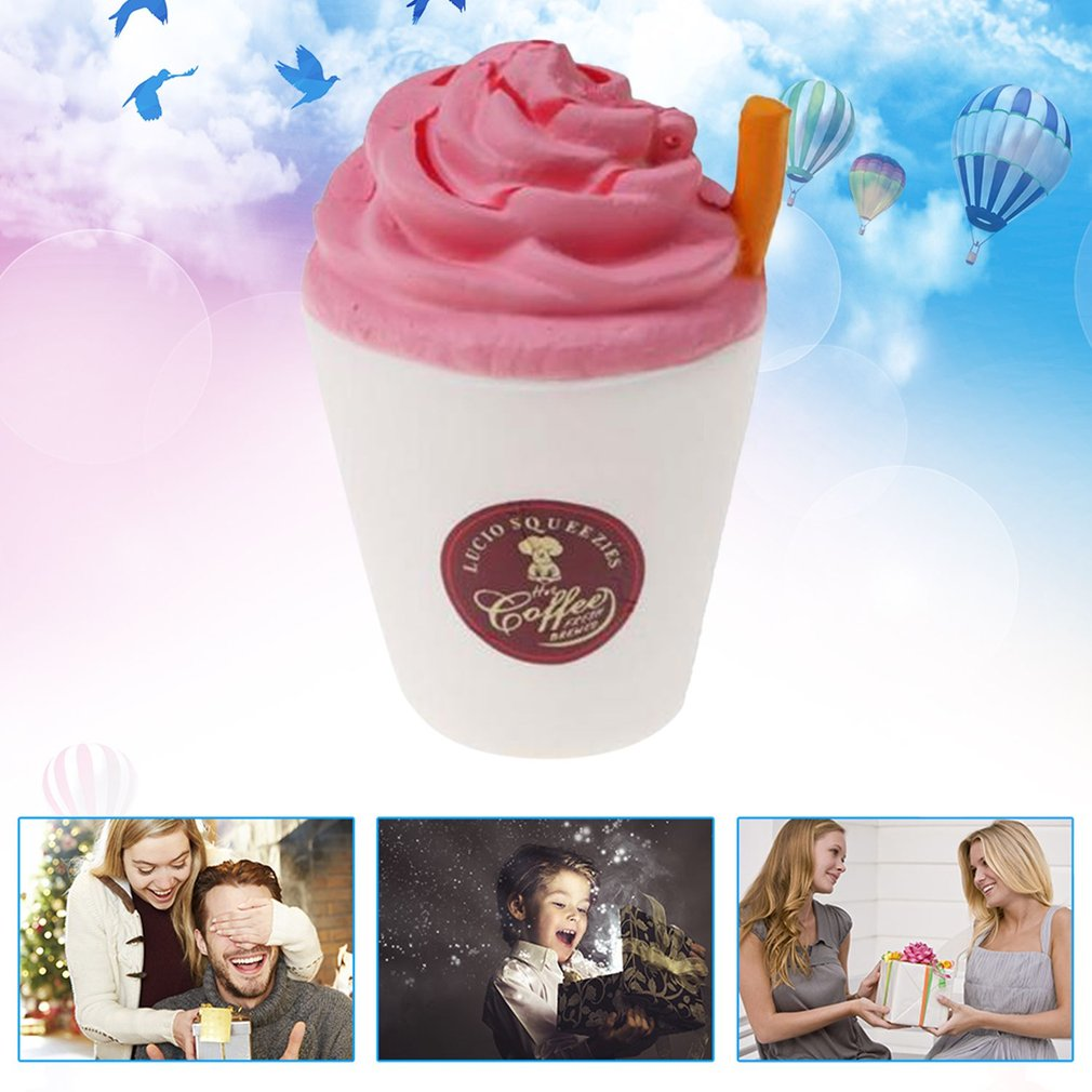 Coffee Cup Shape Cream Scented Slow Rising Toy for Relieves Stress Anxiety