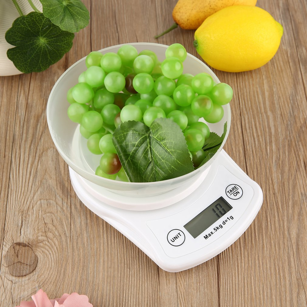 Electronic Kitchen Scale with Removable Bowl Support Tare Function & Auto off